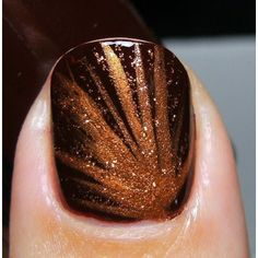33 Earthy and Stylish Fall Nail Art Ideas ❤ liked on Polyvore featuring beauty products y nail care