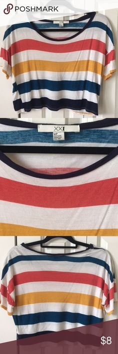 Forever 21 Stripe Top Forever 21 size small flowy stripe top.  super comfy!  in great condition. Forever 21 Tops Crop Tops