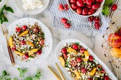 QUINOA, MINT AND STONE FRUIT SALAD