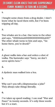 good jokes clean short