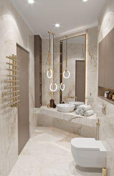 Washroom Design, Bathroom Design Luxury, Modern Bathroom Design, Modern Luxury Bathroom, Glamorous Bathroom, Luxury Shower, Home Room Design, Dream Home Design, Interior Design Living Room
