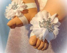 Bebé pies descalzos zapatos de bebé bebé pies por PoshBabyBlooms