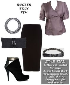 The Rocker Edgy Fem look is perfect for me! Thx @Blueprint4Style 4 the look & @ShopPresenza 4 the chance to win it! #showlessbreast {cc: @Monica Barnett}