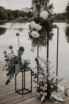 THE next stunning statement at your event or wedding — black matte metal floral stand. Stack or pair together with florals and greenery for a minialist modern piece. Wedding Designs, Wedding Styles, Wedding Centerpieces, Wedding Decorations, Tall Centerpiece, Black And White Wedding Theme, Black Wedding Decor, Floral Wedding, Wedding Flowers