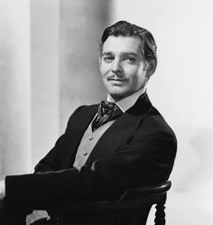 Clark Gable as Rhett Butler ... so my crush is on a fictional character...not so different than in real life.