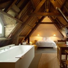 Lloyd Hotel, Amsterdam, NL | This was my honeymoon suite! So romantic, such a great hotel, and the giant bath tub was perfect to relax in the next day.