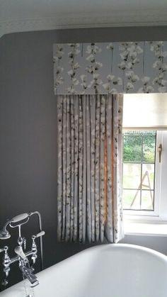 Curtain & Pelmet combo in Honor Fjord fabric #romo