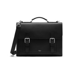 Chiltern Briefcase in Black Natural Grain Leather Briefcase For Men, Leather Briefcase, Work Bags, Season Colors, Whats New, Messenger Bag, Satchel, Mens Fashion, Men's Briefcases