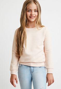 Girls Textured Pullover (Kids)   Forever 21 girls - 2000142003