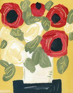 Sunday Original acrylic painting on canvas 8x10 by RachelCordaro, $42.00