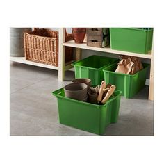 IKEA GLES box Perfect for sports equipment, gardening tools or laundry and cleaning accessories.