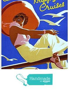 """""""Canadian Pacific Happy Cruises"""" A4 Glossy Vintage Cruise Line Poster Art Print from The Andromeda Print Emporium https://www.amazon.co.uk/dp/B0733J7HX9/ref=hnd_sw_r_pi_dp_3V9szb6QY6K18 #handmadeatamazon"""