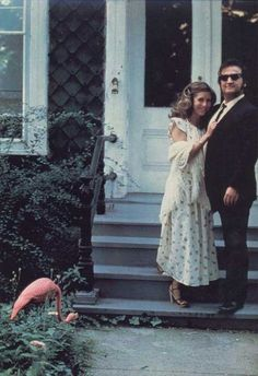 Carrie Fisher, John Belushi on the set of The Blues Brothers, 1979.