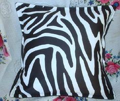 RODEO DRIVE Zebra  Pair Custom Made Decorative by Sew1Pretty, $22.00