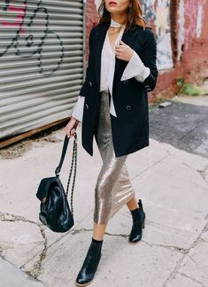 How to Stay Chic and Warm This Season (Le Fashion) Moda Outfits, Blazer Outfits, Fall Outfits, Chic Outfits, Fashion Outfits, Blazer Dress, Dress Outfits, Fashion Shoes, Mode Chic