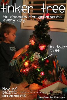 Being a Mom {Keeping your kids busy at Christmas}. This could be so fun in the classroom as a center!
