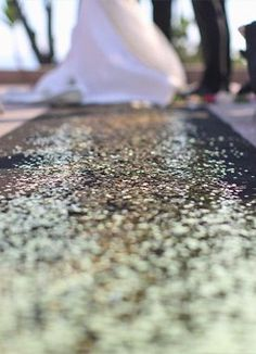 sequin wedding ceremony aisle runner: