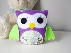 Pick your colors  Plush Owl  Nursery Decor Owl  by LoveFeltXoXo, $30.00