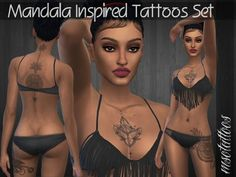 Sims 4 CC's - The Best: Mandala Inspired Tattoos Set by luvjake