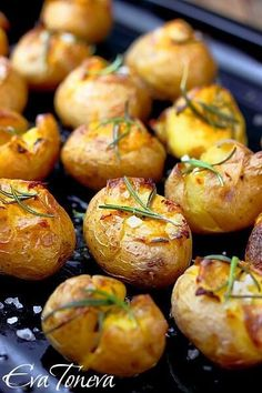 Roasted new potatoes with sea salt and rosemary. Only Tasty Food