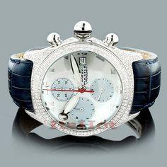 Aqua Master Mens Diamond Bubble Watch with 3.50 carats of genuine diamonds