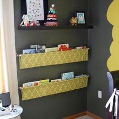 How to Make a Fabric Sling Bookshelf