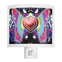 The background image is a classic liquid light show glycerin gooey set over swirls. Above this organic structure, three hearts, beating as one, fly on butterfly wings of gossamer light delivering a message of beauty and harmony. This Hearts Of Glys Night Light will illuminate your darkened evening path with love.  Over 3000 products at my Zazzle online store. Open 24/7 World wide! http://www.zazzle.com/greg_lloyd_arts*?rf=238198296477835081