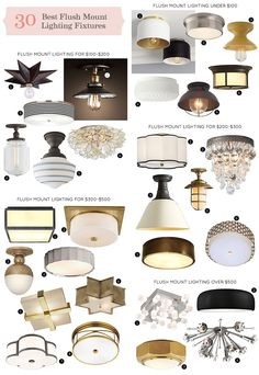 Hallway lighting Flushmount - The 30 Best Flush Mount Lighting Fixtures. Hallway Lighting, Living Room Lighting, Bedroom Lighting, Home Lighting, Lighting Ideas, Low Ceiling Lighting, Laundry Room Lighting, Semi Flush Ceiling Lights, Bedroom Ceiling