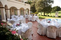 All set and prepared for the wedding at Hotel Tamisa Golf, Mijas Costa in southern Spain.