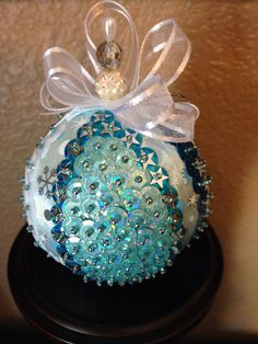Your place to buy and sell all things handmade Sequin Ornaments, Beaded Ornament Covers, Quilted Christmas Ornaments, Christmas Gift Decorations, Handmade Ornaments, Diy Christmas Ornaments, Handmade Christmas, Sequin Crafts, Kissing Ball