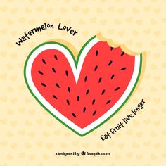 Nice watermelon background with heart shape , Free Font Design, Happy Design, Watermelon Background, Ww Girl, Free Svg, Watermelon Art, Diy Resin Art, Illustration Girl, Graphic