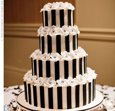 Tim Burton style wedding cake with jack skellington and sally as toppers