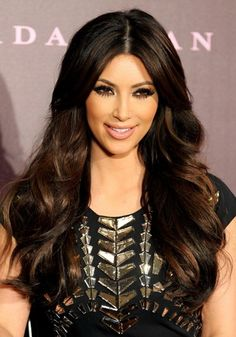 pitch black hair with chestnut brown highlights