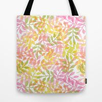 Tote Bag featuring Curved Vines by Robin Gayl