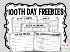 Use these day math freebies on your day of school. These day math activities are perfect for first, second, and third grade classes. 100th Day Of School Crafts, 100 Day Of School Project, 100 Days Of School, School Holidays, School Fun, School Stuff, School Projects, Class Projects, 2nd Grade Classroom