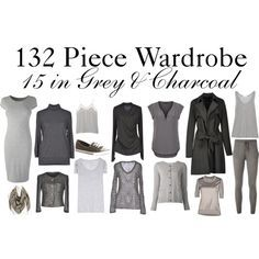 charcoal capsule wardrobe - Google Search