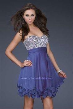 La Femme Dress - 16541 -  Glamorous #bridesmaids dresses for #summer weddings  #shortdresses