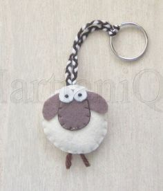 Giorgio the Sheep Felt Keychain by MartianiQue on Etsy