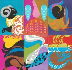 vintage zodiac poster | Vintage Zodiac Posters :: Simboli Design