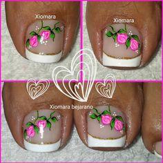 Cute Toe Nails, Toe Nail Art, Pedicure Designs, Toe Nail Designs, Kathy Nails, New Nail Art Design, French Pedicure, Magic Nails, Cute Pedicures