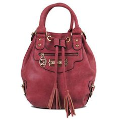 PU Leather Metal Eyelet Tassel Handbag #>=#>=#>=#>=#> Click on the pin to check out discount price, color, size, shipping, etc. Save and like it!