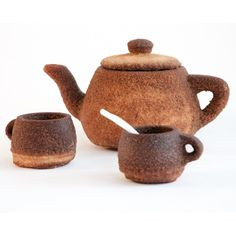 Emerging Objects' latest project is a printed tea set made entirely from instant tea. 3d Printing Store, 3d Printing Industry, Fabrication Tools, 3d Printed Objects, 3d Printing Materials, Tea Pot Set, 3d Prints, Sweet Tea, Afternoon Tea