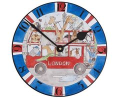 Milly Green London Bus Clock at Dandy Lions Children and Baby Boutique - Dandy Lions Boutique