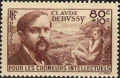 Resultado de imagem para selo de Claude Debussy