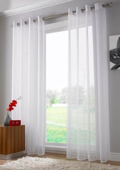 I like the practicality of roller blinds with a sheer for Voilage fenetre pvc