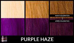 Manic Panic Dark Hair, Lie Locks Manic Panic, Cheveux Manic Panic, Manic Panic Shocking Blue, Manic Panic Purple Haze, Manic Panic Colors, Hair Color Pink, Hair Dye Colors, Fantasy Hair Color