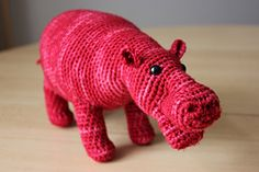 This was originally inspired by a friend of mine (well, for her!) who loves hippos - so I made one for her as a birthday gift. But it turned out well enough for me to decide to turn it into a pattern. This is the result.