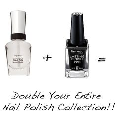 Double your nail polish collection with things you already have laying around the house.