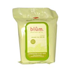 Blum Naturals, Daily Cleansing & Makeup Remover Towelettes, Combination & Oily Skin, Tea Tree, 30 Towelettes(pack of Oil Makeup Remover, Natural Makeup Remover, Oily Skin Makeup, Organic Tea Tree Oil, Facial Skin Care, Face Cleanser, Skin Cream, Organic Skin Care, Gardening Memes
