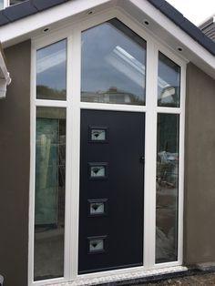 Get a list of authorised composite door installers in your area, offering competitive composite doors prices. Front Door Canopy, Front Door Porch, Front Porch Design, Porch Roof, Front Porches, House Front, Front Doors, Door Design, Exterior Design